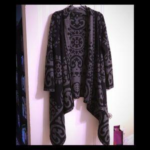 Adrienne Vittadini Handkerchief Hem Heavy Cardigan